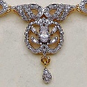 24.20 Grams American Diamond Gold Plated Brass Necklace Set