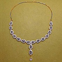 28.40 Grams American Diamond Gold Plated Brass Necklace Set