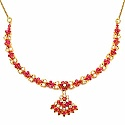 28.57 Grams Red Cubic Zirconia & White Cubic Zirconia Gold P