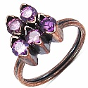 35.00 Grams Purple Cubic Zirconia & Purple Glass Gold Plated