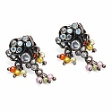 32.00 Grams Multicolor Glass Gold Plated Brass Victorian Nec