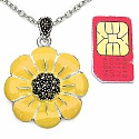 12.90 Grams Marcasite Brass Yellow Enamel Pendant