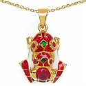 6.80 Grams Red Synthetic Stone & Ruby Gold Plated .925 Sterling