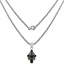 6.30 Grams Multigemstones Rhodium Plated .925 Sterling Silver P