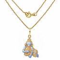 Shraddha 4.00 Grams White Cubic Zirconia Sky Blue, Red, White &