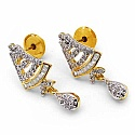 8.80 Grams White Cubic Zirconia Gold Plated Brass Pendant Se