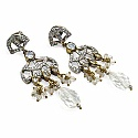 37.60 Grams White Cubic Zirconia & White Glass Gold Plated B