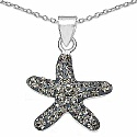 1.20 Grams Champagne Crystal .925 Sterling Silver Star Shape