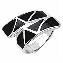 7.50 Grams Black Mother Of Pearl Rhodium Plated .925 Sterling S