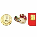 8.00 Grams Multigemstones Gold Plated Silver & Copper Red, Gree