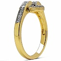 2.10 Grams White Cubic Zirconia Gold Plated Brass Ring