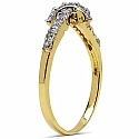 1.10 Grams White Cubic Zirconia Gold Plated Brass Ring