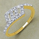 Gleam Touch 1.50 Grams White Cubic Zirconia Gold Plated Brass R