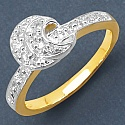 Gleam Touch 1.90 Grams White Cubic Zirconia Gold Plated Brass R