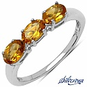 1.05CTW Genuine Citrine .925 Sterling Silver Ring