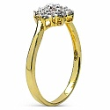 1.30 Grams White Cubic Zirconia Brass Gold Plated Ring