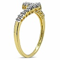 1.10 Grams White Cubic Zirconia Brass Gold Plated Ring