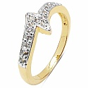1.60 Grams White Cubic Zirconia Brass Gold Plated Ring