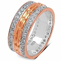 1.52CTW White Cubic Zirconia Rose Gold Plated .925 Sterling