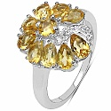 2.02CTW Citrine & White Cubic Zirconia .925 Sterling Silver