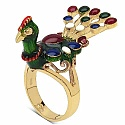 9.80 Grams Gold Plated .925 Sterling Silver Multicolor Ename