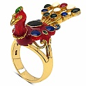 10.60 Grams Gold Plated .925 Sterling Silver Multicolor Enamel