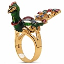 10.00 Grams Gold Plated .925 Sterling Silver Multicolor Enamel