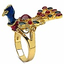 10.80 Grams Gold Plated .925 Sterling Silver Multicolor Enam