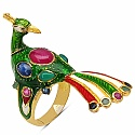 11.20 Grams Multi Gemstone Gold Plated .925 Sterling Silver Mul