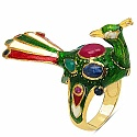 11.20 Grams Multi Gemstone Gold Plated .925 Sterling Silver