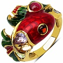 7.90 Grams Multi Gemstone Gold Plated .925 Sterling Silver Mult
