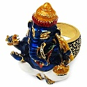 16.20 Grams Gold Plated .925 Sterling Silver Multicolor Enam