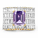 Gleam Touch 10.34 Grams Amethyst & White Cubic Zirconia Gold Pl
