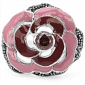 9.80 Grams Garnet & Marcasite .925 Sterling Silver Red & Pin