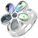 6.40 Grams Mother Of Pearl .925 Sterling Silver Ring