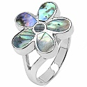 6.40 Grams Mother Of Pearl .925 Sterling Silver Rings
