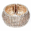 White Cubic Zirconia & Gold Plated Traditional Style Bangle