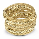 Contemporary Gold Plated Adjustable Wrap Bracelet