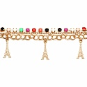Chunky Multi Colour Stone Eiffel Tower Shape Bracelet For Wo