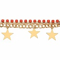 Chunky Orange Colour Stone Star Shape Bracelet For Women