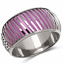 Purple And Silver Toned Incredible Bangle For Women