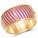 Purple And Gold Toned Incredible Bangle For Women