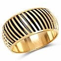 Black And Gold Toned Incredible Bangle For Women