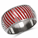 Red And Silver Toned Incredible Bangle For Women
