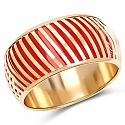Orange And Gold Toned Incredible Bangle For Women