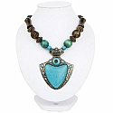 Oxidized Gold Plated Tribal Style Turquoise Beaded Fashion N