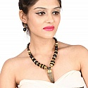 18.00 Inches Long Plain Metal Gold Plated Necklace Set