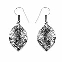 GLEAM TOUCH 7.52 Grams Oxidised Metal Alloy Leaf Shape Earrings