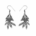 GLEAM TOUCH 6.34 Grams Oxidised Metal Alloy Fish shape Earrings
