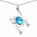 5.69 Grams Mother Of Pearl Frog Shape Pendant